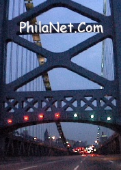 Ben Franklin Bridge Into Philadelphia