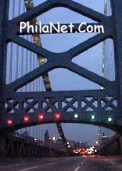 Ben Franklin Bridge Into Philadelphia